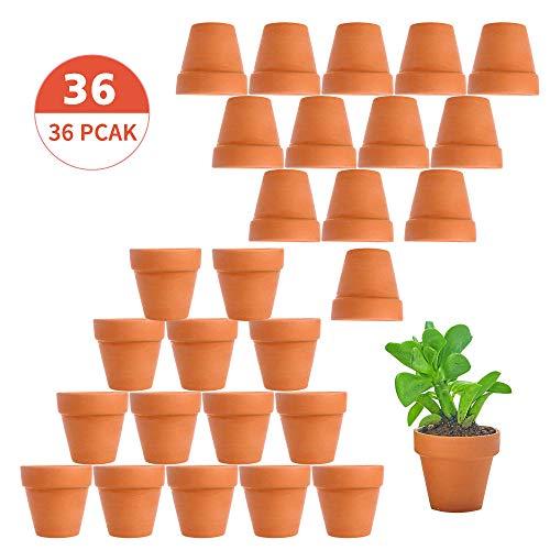 Tcamp 36 Pcs Terracotta Pot Clay Pots Clay Ceramic Pottery Planter Cactus Flower Pots Succulent Pot Drainage Hole- Great for Plants,Crafts,Wedding Favor Indoor/Outdoor Plant Crafts]()