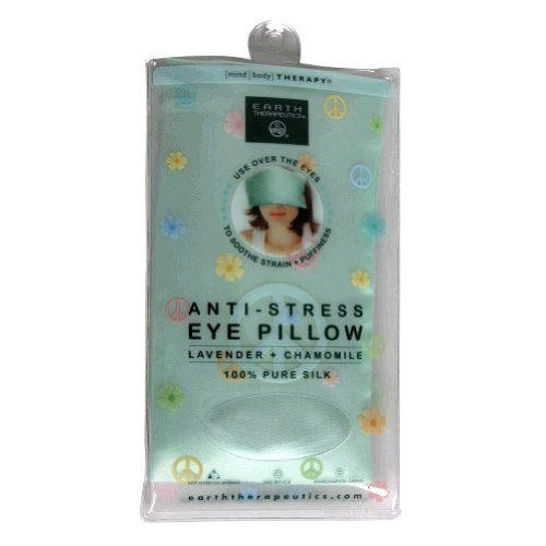 Earth Therapeutics Mind/Body Therapy Anti-Stress Eye Pillow, Lavender + Chamomile, 1 pillow - Lavender Silk Eye