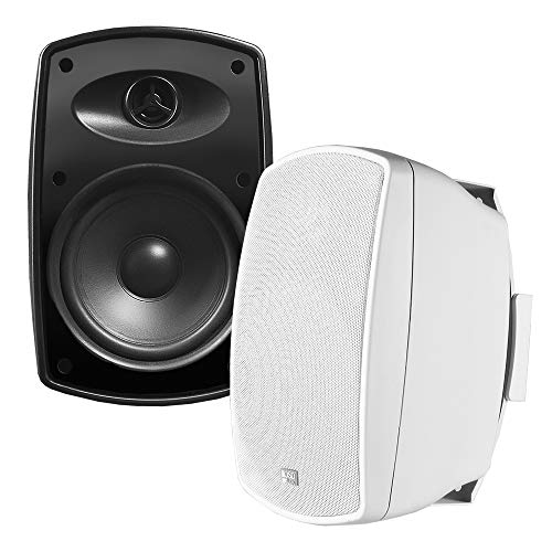 OSD Audio 70V Commercial Patio Pair Speakers - Indoor/Outdoor Stereo, White