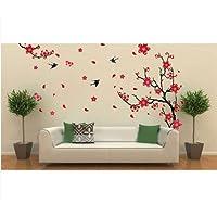 Decalgeek flor de ciruelo grande flor extraíble etiqueta de la pared decoración Decal Room Background Art (7050cm)