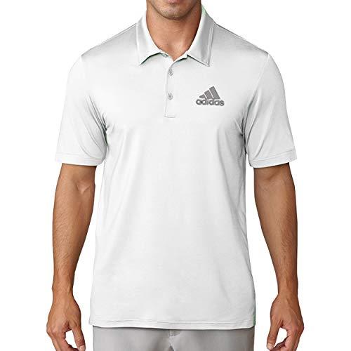 adidas Golf Men's Chest Logo Solid Polo Shirt, Medium White