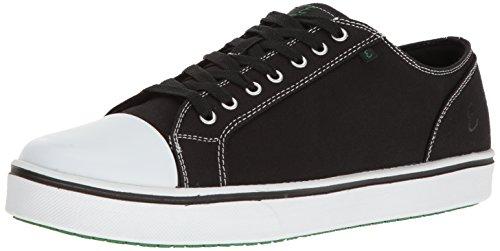 Emeril Lagasse Men's Canal Canvas  Slip-Resistant Shoe, Black/White, 8.5 D - Canvas Shoes Slip