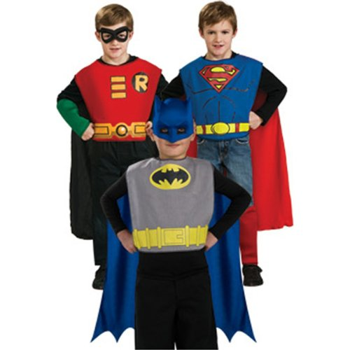 DC Comics Boys Action Trio Superhero Costume Set ()