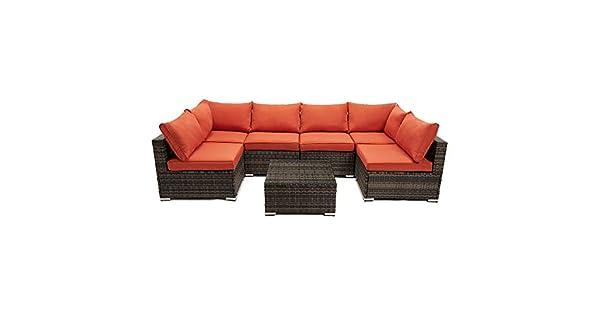 Amazon.com: Juego de muebles de patio de 7 piezas, juego de ...