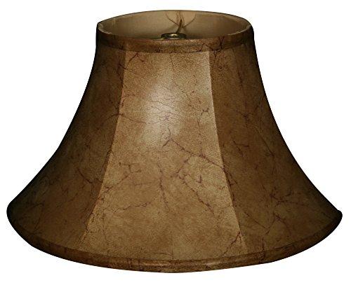 Royal Designs Shallow Bell Basic Lamp Shade, Faux Rawhide 9 x 18 x - Rawhide Faux Shade