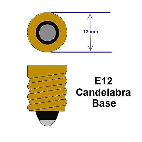 Clear Candelabra Base Bulbrite KR60CTC//32 60-Watt Dimmable Krypton Krystal Touch Torpedo B10 Chandelier Bulb