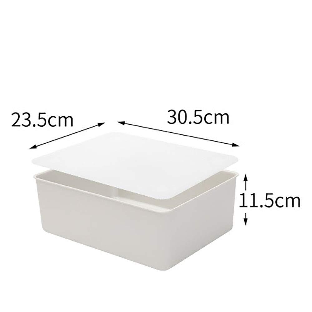 Koloeplf 下着、ブラジャー、靴下、2パック用ふた付きプラスチック収納ボックス服収納ボックス (Color : Gray x2) B07Q5SMK7Q Gray x2