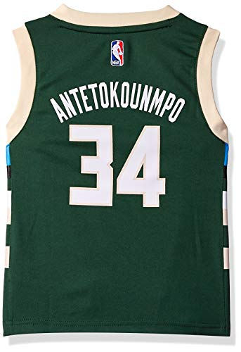 NBA Milwaukee Bucks Giannis Antetokounmpo Youth Boys Replica Player Road Jersey, Medium (10-12), Hunter Green