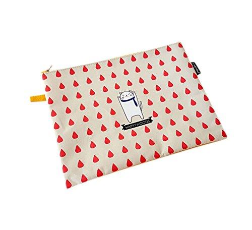 2Pcs Fashion Office Supplies Stylish Stationery Paper Storage Bag File Bag