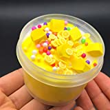 AMOFINY Baby Toys Fruits Cloud Puff Slime Putty Scented Stress Kids Clay Crystal Mud Toy 60ml