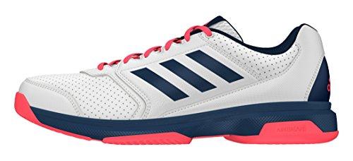 adidas Herren Adizero Attack Tennisschuhe, Blanco (Ftwbla / Acetec / Rojdes), 42 EU