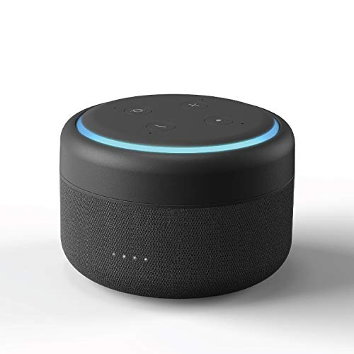i-box Battery Base for Echo Dot 3rd Generation, Wireless Charger for Echo Dot 3rd Gen with 12 Hours of Playtime (Echo Dot not Included)