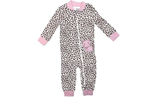 Footed One Piece Bodysuit - Little Me Footie Baby Footed Pajamas Sleeper (Pink Multi, 3 T)
