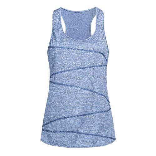 Garden Sleeveless - Women's Tank Tops Yoga Sports Sleeveless Round Neck Racerback Workout Running Top Camisole Vest (XL, Blue4)