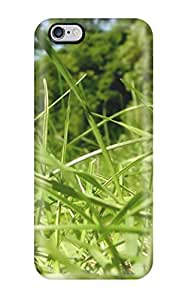 Fashion Tpu Case For Iphone 6 Plus- Sun Bathed Grass Beautiful Gren Season Life Beginning Flowers Nature Spring Defender Case Cover