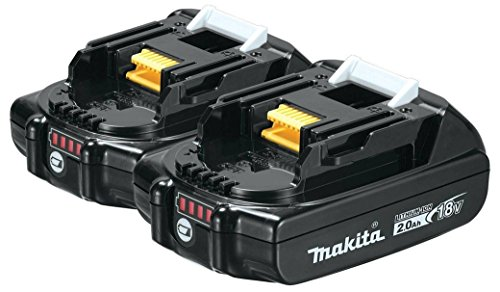 Makita BL1820B-2 18-Volt Compact Lithium-Ion Replacement Cordless Battery with L.E.D. Indicator - 2 Ah - 2 Per Package by Makita