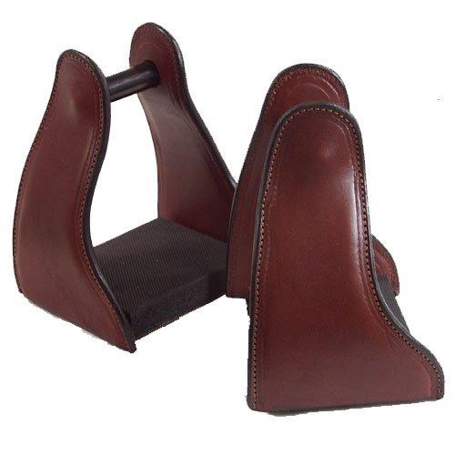 Lightweight Endurance Saddles (Shenandoah Leather Covered Trail Stirrup - Brown)