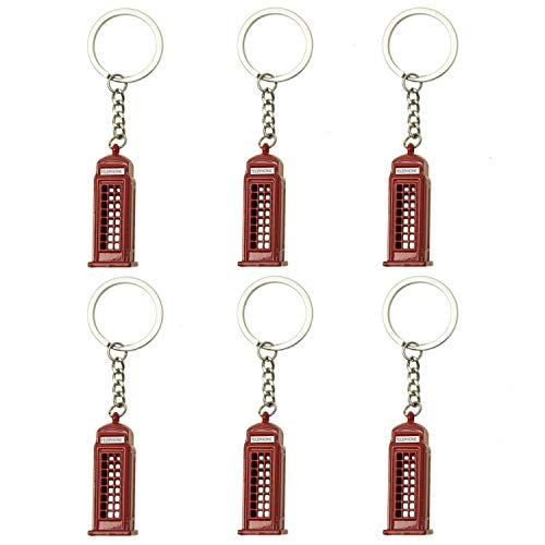 Monrocco 6Pcs Vintage London Telephone Booth Box...