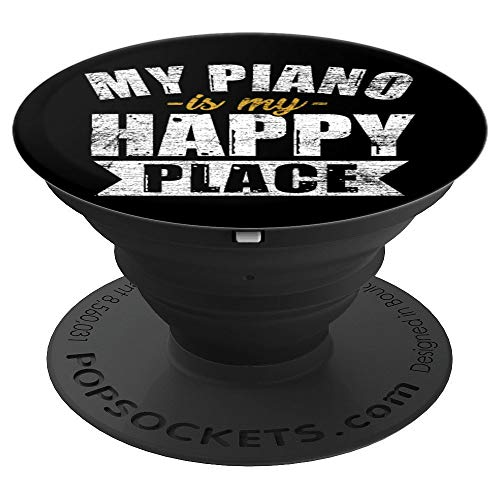 Piano Pop Socket - Music Musician Musical Instrument Gift - PopSockets Grip and Stand for Phones and Tablets
