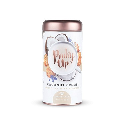 Pinky Up Coconut Crème White Loose Leaf Tea with Flowers, 2.5 (Pinky Flower)