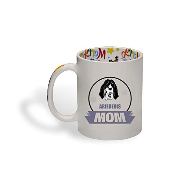 Ceramic Christmas Coffee Mug Mom Ariegeois Dog Funny Tea Cup 1