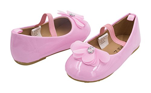 BABY STEPS Flower Ribbon Baby Girl Shoes (Pink) - 1