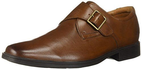 (Clarks Men's Tilden Style Shoe, dark tan leather, 14 M US)