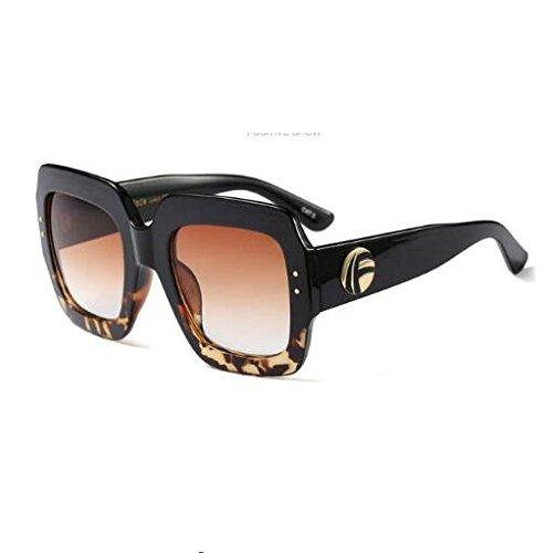 de Gafas Sombras Mujer Sol Marca Sol Retro Moda Última Burenqi de Square Espejo Gruesas diseñador Femenino D E Gafas XSPqpw