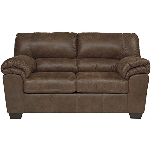 Flash Furniture Signature Design by Ashley Bladen Loveseat in Coffee Faux Leather (Sette Furniture)