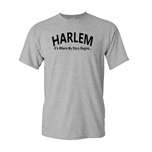 Harlem Story Tee-L-Gray - Harlem Mall Chicago