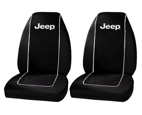 Plasticolor 6563R01 Jeep Logo Front Bucket Seat Covers - One ()
