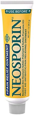 Neosporin + Maximum-Strength Pain Relief Dual Action Ointment, First Aid Topical Antibiotic & Analgesic Oi