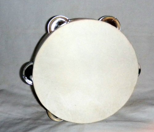 """7"""" Wood Tambourine W/jingles Folkloric Dance Performance or Church From Mexico"""
