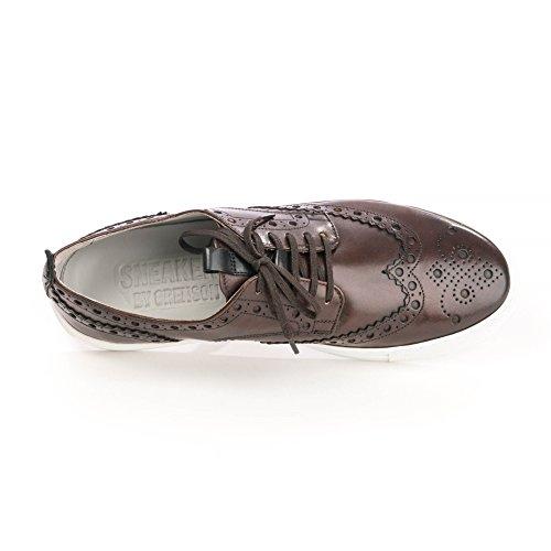 Sneaker Grenson 3 Sneaker Da Uomo Dipinta A Mano Marrone