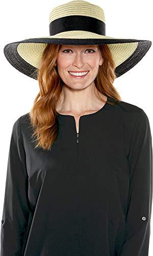 Coolibar UPF 50+ Women's Elegant Tiki Hat - Sun Protective (One Size- Natural)