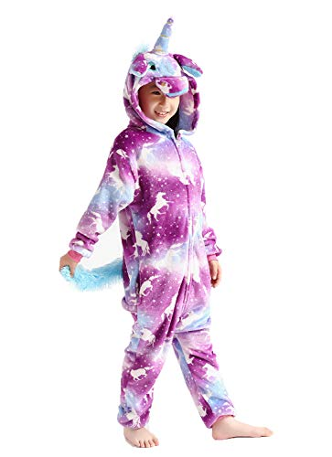 Kids Unisex Unicorn Costume Animal Onesie Pajamas Halloween 10t ()