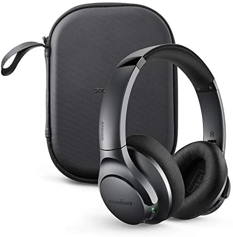 Anker Soundcore Life Q20 Bluetooth Headphones Holiday Edition with Travel Case, Hybrid Active Noise Cancelling, 40H Playtime, Hi-Res Audio, Deep Bass, Wireless Over Ear Headphones for Travel, Work