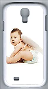 Samsung Galaxy S4 I9500 Cases & Covers - Cute Baby And Wings Custom PC Soft Case Cover Protector for Samsung Galaxy S4 I9500 - White