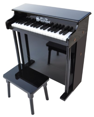(Schoenhut 6637B - 37 Key Trad/Deluxe Spinet with Bench (Black))