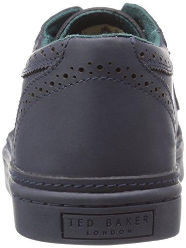 Ted Baker Mens Huult Rain Shoe In Pelle Blu Scuro