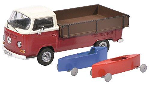 Dickie-Schuco 450333800 - Volkswagen T2a mit Seifenkisten, Maßstab 1 43