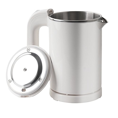0.5L Portable Electric Kettle, Mini Travel Kettle, Stainless Steel Water Kettle - Suitable For Traveling Cooking Noodles, Boiling Water, Eggs, Milk(White 110V) ()