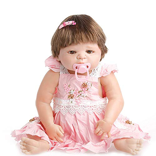 NPK collection Reborn Baby Doll, Vinyl Silicone 22 inch 55 cm Babies Doll, Lifelike express Toys Girl for Children Gift can take a shower all Vinyl Silicone Baby