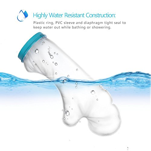 Waterproof Arm Cast Protector for Shower Bath, Reusable Bandage Cover Keeps Casts Bandages Dry, Adult Arm Cast Sleeve Bag Covers Hands, Wrists, Fingers for Wounds Burns 22 Inches by DOACT (Image #4)