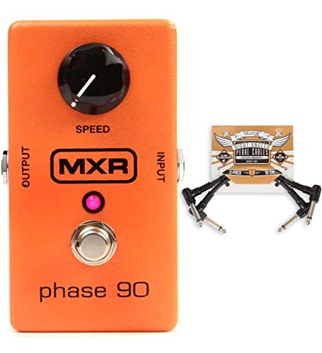 New Dunlop MXR M101 Phase 90 Phaser Effects Pedal Bundle with 6' Patch Cables