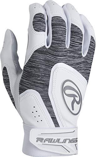 Rawlings 5150WBG-W-90 Rawlngs 5150 Batting Gloves, White ()