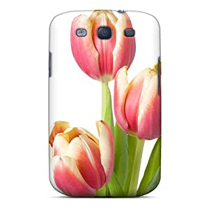 Premium YWf19070HSBO Case With Scratch-resistant/ Mother S Day Beautiful Flower Three Tulips Case Cover For Galaxy S3