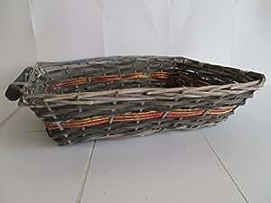 Lote 10piezas cestas de mimbre para paquetes cm.47x 34x 12h.
