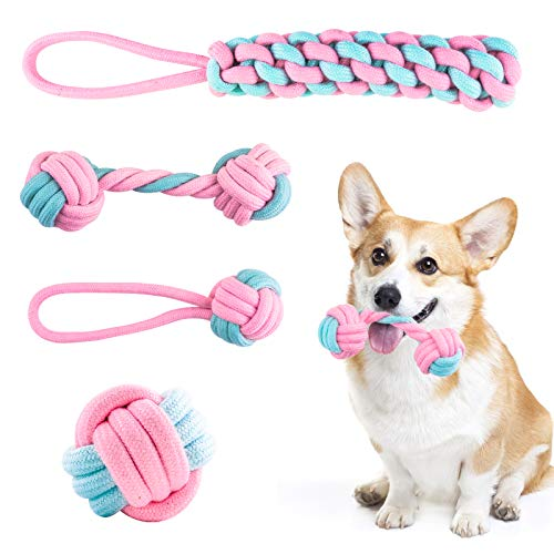 FENRIR Dog Rope Toys,Dog Chew Toy Set,Rope Ball, Beneficial to Dog's Mental Health, Dog Interactive Toy, Tooth Cleaning…
