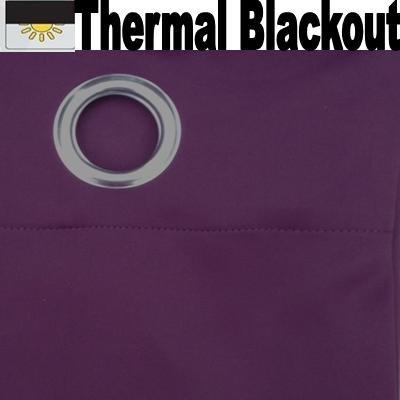 EYELET THERMAL BLACKOUT DOOR CURTAIN - AUBERGINE- 66 inch x 84 ...